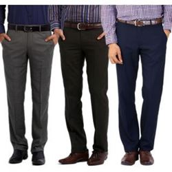 Men Regular Fit Formal Trouser