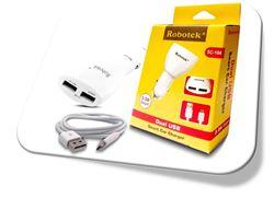Robotek SC-116 Dual USB Port Fast Car Charger