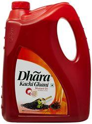 Dhara Kachhi Ghani Mustard Oil Jar, 5L