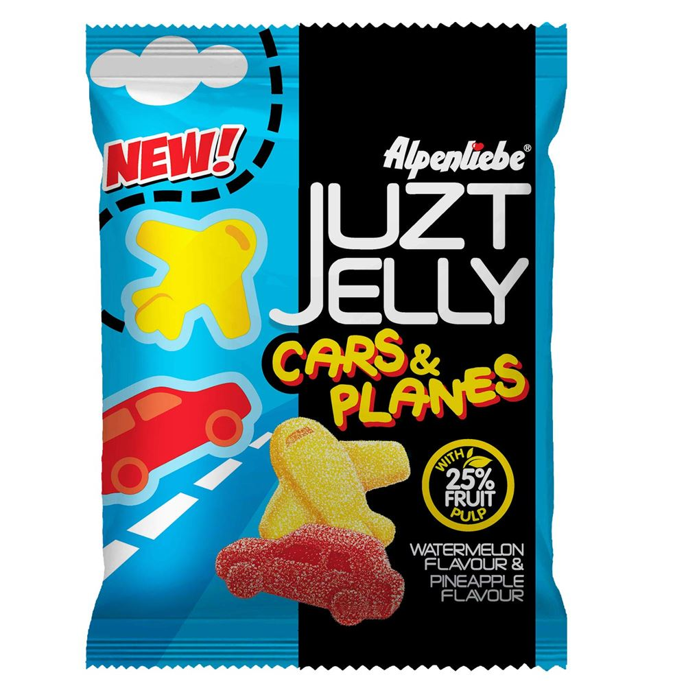 Alpenliebe Juzt Jelly,  Cars & Planes Pouch, 74.5 g