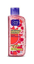 Clean & Clear Morning Energy Berry Blast Face Wash with cooling menthol, 50 ml