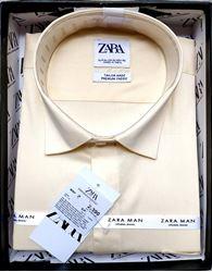 Men Peach Solid Formal Shirt M