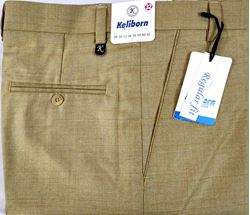 Men Regular Fit Tan Checked Formal Trousers size 32