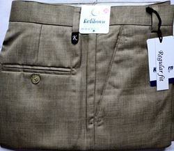 Men Regular  Tan Checked Formal Trousers size 34