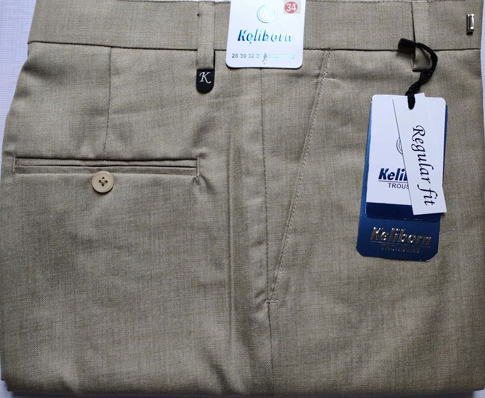 Men Regular Fit Tan Formal Trousers size 34