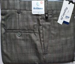 Men Regular Fit Grey self Formal Trousers size 38