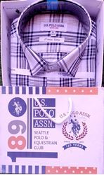 Cool Comfort White & Black Checked Casual Shirt M(38)