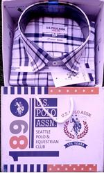 Cool Comfort White or Black Checked Casual Shirt M(38)