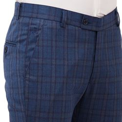 Men's Viscose Flat Front Charcoal Checks Trouser size 38