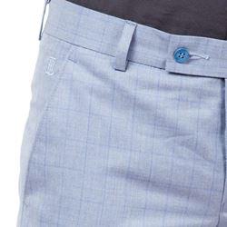 Men's Viscose Flat Front Lavender Checks Trouser size 30