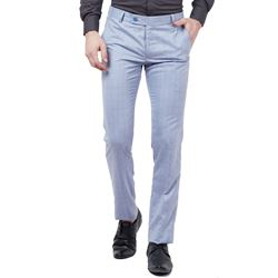 Men's Viscose Flat Front Lavender Checks Trouser size 32