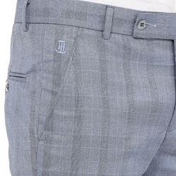 Men's Viscose Flat Front Grey Checks Trouser size 30