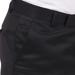 Men's Viscose Flat Front Black Trouser size 30