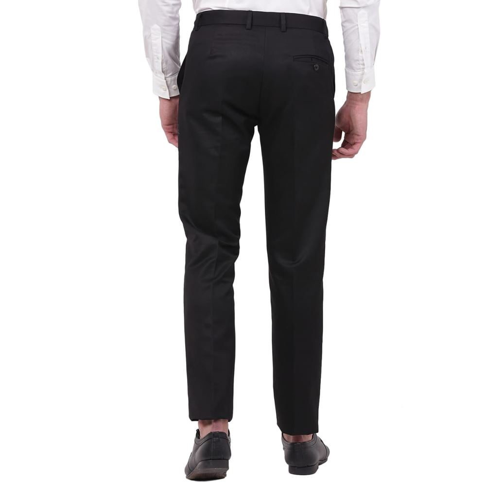 Men's Viscose Flat Front Black Trouser size 32