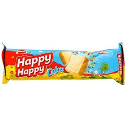 Parle Happy Happy Happy Cakes - Vanilla Flavoured, 50g Pack