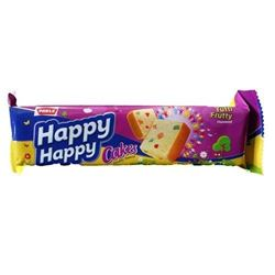 Parle Happy Happy Cake - Tutti Frutty, 40g Pack