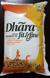Dhara Soyabean Oil, 1L Pouch