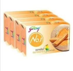 Godrej No1 Bathing Soap Sandal Turmeric 10% Extra (4*63g)