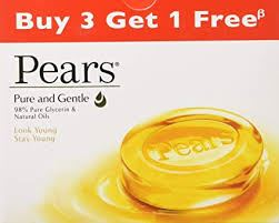 Pears Pure & Gentle Soap Bar, 75g (Buy 3 Get 1 Free)