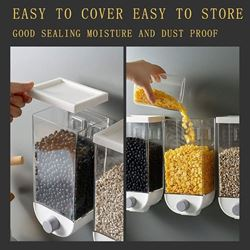 Storage Box Wall-Mounted Storage Tank Food Storage Airtight Container Punch Free 1.5L( Pack Of 1 )
